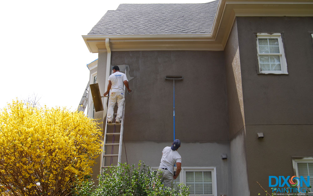 Exterior Painting Stucco Home Alpharetta Choose Dixon Painting
