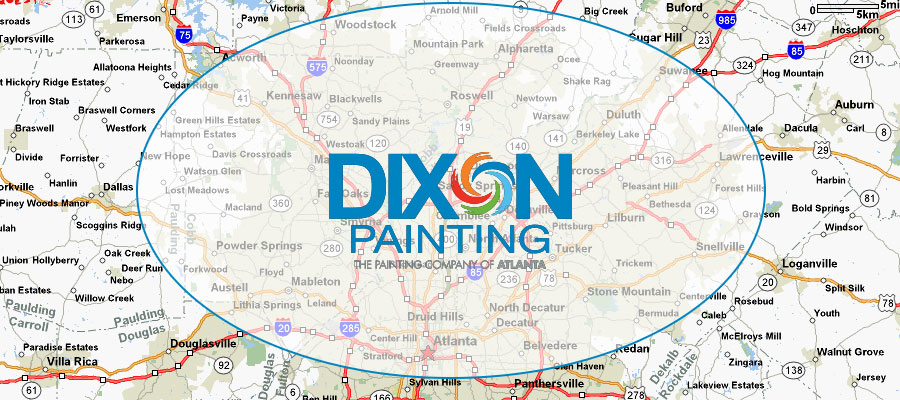Service Area for Dixon Painting